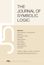 The Journal of Symbolic Logic Volume 80 - Issue 2 -