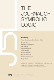 The Journal of Symbolic Logic Volume 80 - Issue 4 -