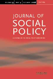 Journal of Social Policy Volume 35 - Issue 4 -