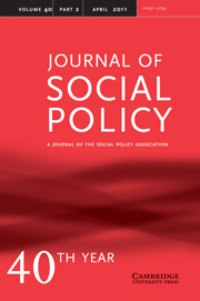 Journal of Social Policy Volume 40 - Issue 2 -