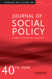 Journal of Social Policy Volume 40 - Issue 4 -