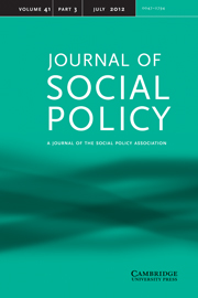 Journal of Social Policy Volume 41 - Issue 3 -