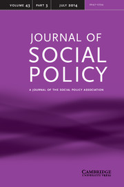 Journal of Social Policy Volume 43 - Issue 3 -