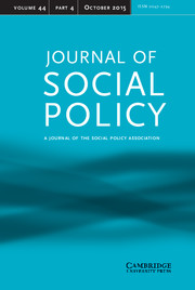 Journal of Social Policy Volume 44 - Issue 4 -