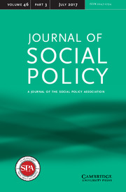 Journal of Social Policy Volume 46 - Issue 3 -