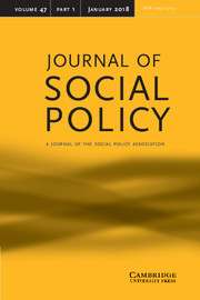 Journal of Social Policy Volume 47 - Issue 1 -