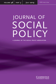 Journal of Social Policy Volume 48 - Issue 3 -