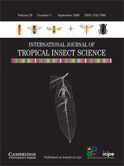 International Journal of Tropical Insect Science Volume 28 - Issue 3 -