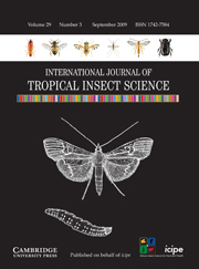 International Journal of Tropical Insect Science Volume 29 - Issue 3 -