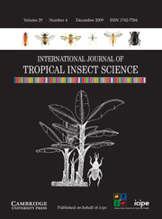 International Journal of Tropical Insect Science Volume 29 - Issue 4 -