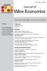 Journal of Wine Economics Volume 10 - Issue 1 -