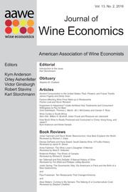 Journal of Wine Economics Volume 13 - Issue 2 -