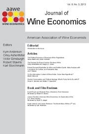 Journal of Wine Economics Volume 8 - Issue 3 -