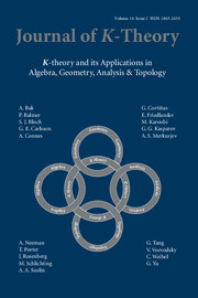 Journal of K-Theory Volume 14 - Issue 2 -