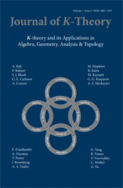Journal of K-Theory Volume 1 - Issue 2 -