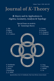 Journal of K-Theory Volume 7 - Issue 3 -
