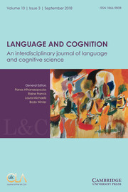 Language and Cognition Volume 10 - Issue 3 -