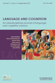 Language and Cognition Volume 9 - Issue 3 -