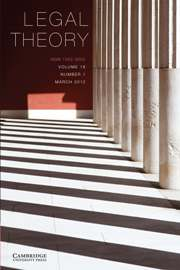 Legal Theory Volume 18 - Issue 1 -
