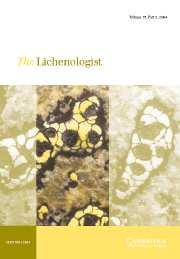 The Lichenologist Volume 36 - Issue 2 -