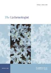 The Lichenologist Volume 37 - Issue 2 -