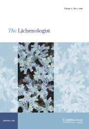 The Lichenologist Volume 37 - Issue 3 -