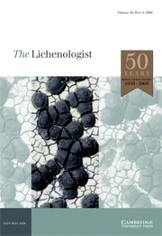 The Lichenologist Volume 40 - Issue 2 -