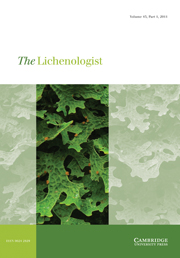 The Lichenologist Volume 43 - Issue 1 -