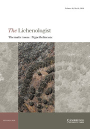 The Lichenologist Volume 48 - Issue 6 -  Thematic issue: Trypetheliaceae