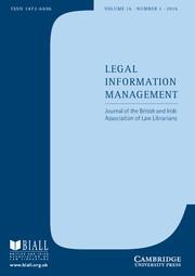 Legal Information Management Volume 16 - Issue 2 -