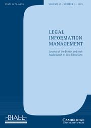 Legal Information Management Volume 19 - Issue 1 -
