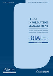 Legal Information Management Volume 19 - Issue 2 -