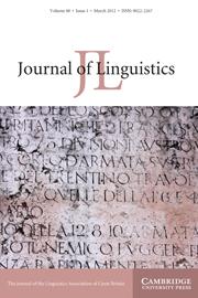 Journal of Linguistics Volume 48 - Issue 1 -