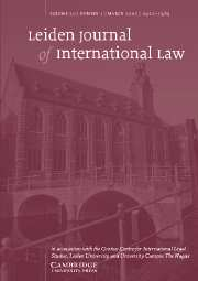 Leiden Journal of International Law Volume 20 - Issue 1 -