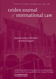 Leiden Journal of International Law Volume 20 - Issue 4 -
