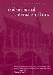 Leiden Journal of International Law Volume 21 - Issue 1 -