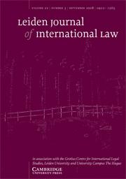 Leiden Journal of International Law Volume 21 - Issue 3 -