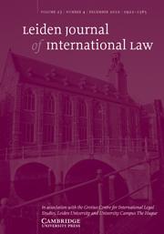 Leiden Journal of International Law Volume 23 - Issue 4 -