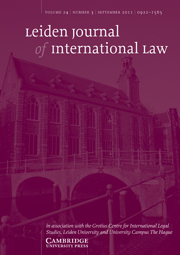 Leiden Journal of International Law Volume 24 - Issue 3 -