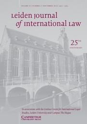 Leiden Journal of International Law Volume 25 - Issue 3 -