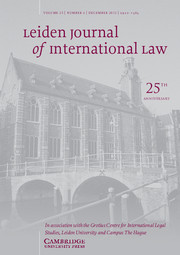 Leiden Journal of International Law Volume 25 - Issue 4 -