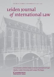 Leiden Journal of International Law Volume 26 - Issue 3 -