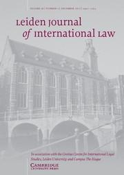 Leiden Journal of International Law Volume 26 - Issue 4 -