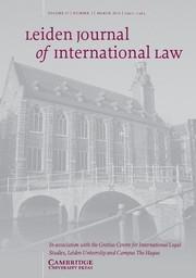 Leiden Journal of International Law Volume 27 - Issue 1 -