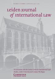 Leiden Journal of International Law Volume 27 - Issue 2 -