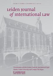 Leiden Journal of International Law Volume 27 - Issue 3 -