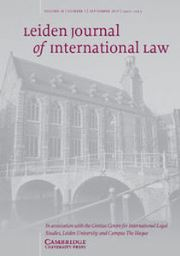 Leiden Journal of International Law Volume 28 - Issue 3 -