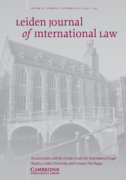 Leiden Journal of International Law Volume 28 - Issue 4 -