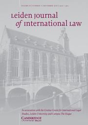 Leiden Journal of International Law Volume 29 - Issue 3 -