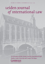 Leiden Journal of International Law Volume 29 - Issue 4 -